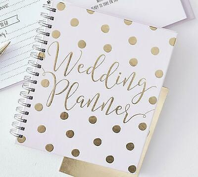 Ginger Ray Luxury Pink & Gold Wedding Planner Book Diary Organiser GO-155