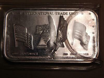International trade unit 1 Troy oz .999 Fine Silver