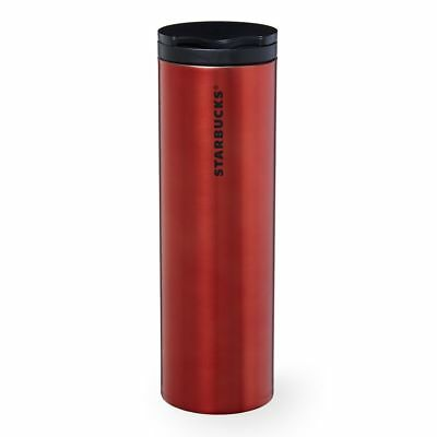 NEW Starbucks Stainless Steel Troy Tumbler Red 16 Oz Double Wall