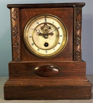 Antique French Mantel Clock by Henry Marc, 19C, Working Order