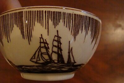 Vernon Kilns Moby Dick Brown Rockwell Kent Design Teacup only