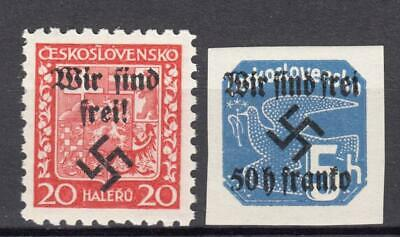 (606-01) Germany Occup Czechoslovakia Mnh Ovpt Selection