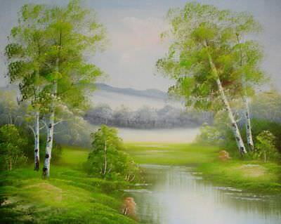 Landscape Painting 59 x 49 cm ( 23 x 19 inches) By Hands UK Artist H4