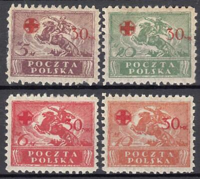 (603-09) Poland Mh Redcross Ovpt Selection