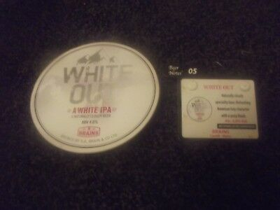 Brains Brewery - White Out Pump Clip