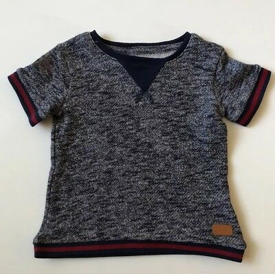 Toddler Boys 7 For All Mankind Top Short Sleeve Knit Shirt Size 2T Navy