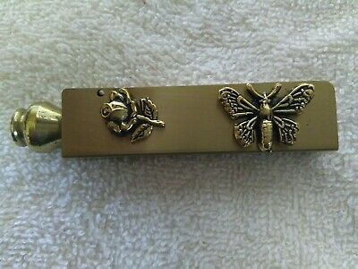 """Butterfly and Rose Address book 3"""" long Gold toned never written in"""