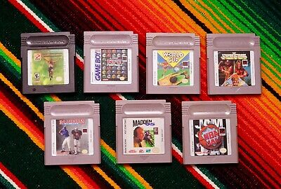 Lot of 7 Game Boy & Game Boy Color Game Cartridges Sports