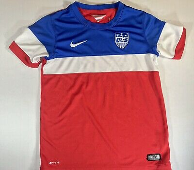 Team Usa National Team Blue Red   White Soccer Jersey Nike Dri-Fit Youth  Large 170272fbc
