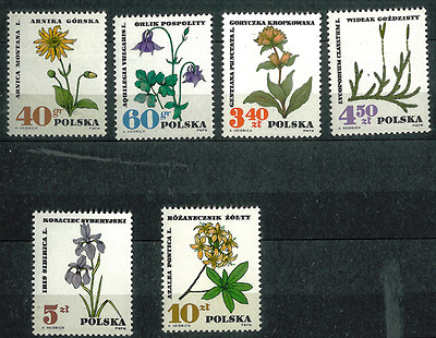 Poland 1967 : Protected therapeutic plants           // Set of 6 stamps