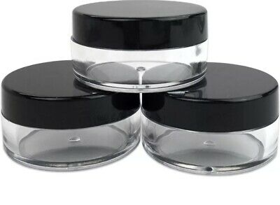 a0bcc624c4c3 25 COSMETIC SAMPLE 3 Gram Jars Lip Balm Pot 3 ml Plastic Beauty Containers