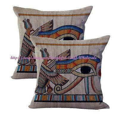 2pcs throw pillow covers Eye of Ra Ancient Egyptian cushion cover