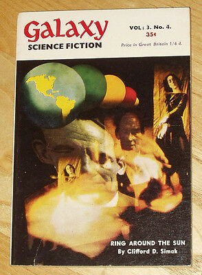 Galaxy Science Fiction UK pulp 1953 vol.3 no.4 Asimov Simak Sheckley *good