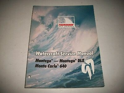1997 Tigershark Watercraft Service Manual Montego, Montego Dlx, Monte Carlo 640