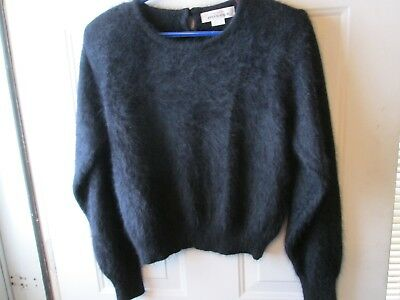 FUZZY 70% ANGORA Sweater Vintage 17 NORTH Off-White Long-Sleeve 36 ... 20cb61af1