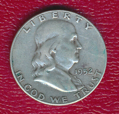 1952-S Franklin Silver Half Dollar **nice Circulated Better Date** Free Ship!!