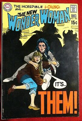 Wonder Woman #185 Dec 1969 Vf/nm The New Incredible I-Ching It's Them Dc Comics