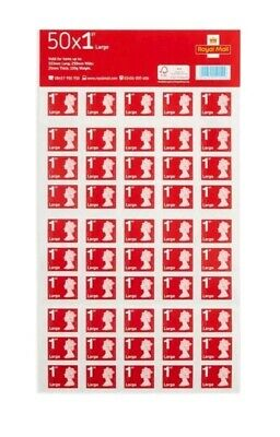 Royal Mail First Class Large Letter 1st Class Self Adhesive Stamp Sheet  4 x 50