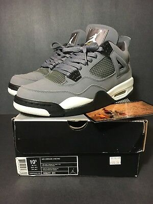 20b979426063bb 2004 Nike Air Jordan 4 Iv Cool Grey Size 10.5 Cement Fear Bred Og Cavs Db