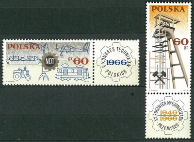 Poland 1966 : Technical Congress in Katowice   // 2 stamps