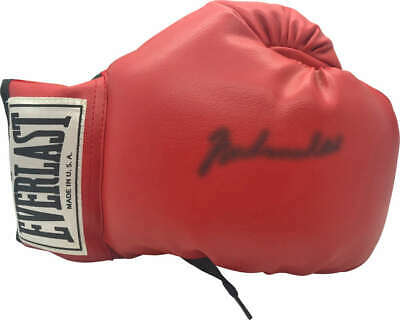 b6c91825ad0 Muhammad Ali Signed Autographed Red Everlast Boxing Glove JSA Authentic