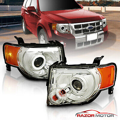 Fit 2008 2009 2010 2011 2012 Ford Escape Headlights Lamps