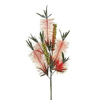 Artificial Australian Native Bottlebrush Flower Spray - Red