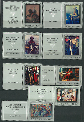 Poland 1968 :  Polish paintings    // 8 stamps