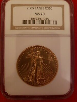 2005 - $50 1oz Gold American Eagle MS70 NGC Graded