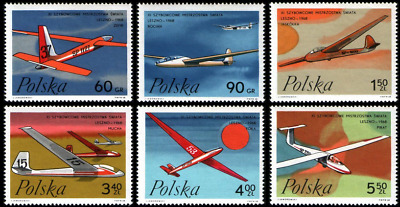 Poland 1968 :  World gliding championship in Leszno  // Set of 6 stamps