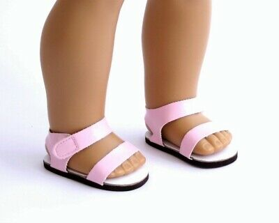 Light Pink Strappy Sandals with Velcro Tab, fits 18 inch American Girl Dolls NEW