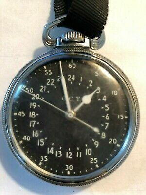 Hamilton GCT 22j WWII 4992B Military Army Navigation Pocket Watch Star Watch Cas