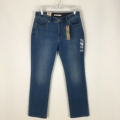 85cc014c3a5 NWT Levis 525 Blue Jeans Womens 12 Short 31x30 Perfect Waist Straight w/  Stretch