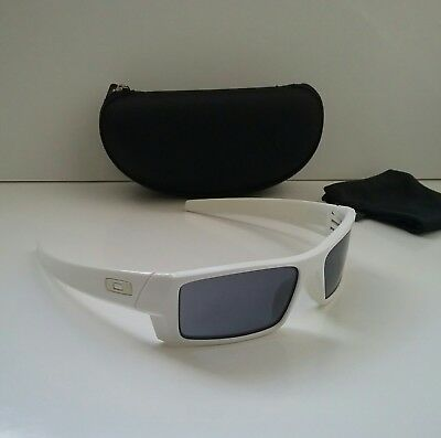 7c08aeea78 OAKLEY GASCAN S Polished White w  Grey Iridium Sunglasses monster dog pup  splice