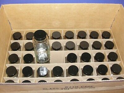 40 NEW 16oz French Squares with caps square bottles reagent chemical storage