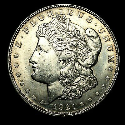 1921 D ~**ABOUT UNCIRCULATED AU++**~ Silver Morgan Dollar Rare US Old Coin! #721