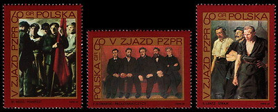 Poland 1968 : Fifth Congress of the Polish United Workers' Party //  3 stamps