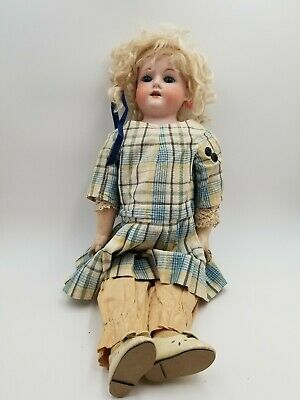 Antique Armand Marseille Bisque Porc. German Doll #370 Am 3 Dep W/outfit - 22""