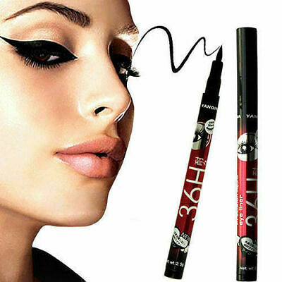 1X 36H Hot Black Waterproof Pen Liquid Eyeliner Eye Liner Pencil Beauty Yanqina