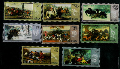 Poland 1968 : Hunters in paintings  // Set of 8 stamps