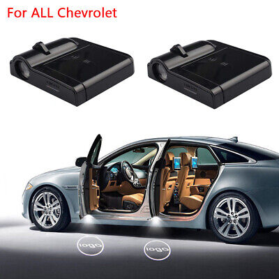2x LED Logo Light Ghost Shadow Projector Car Door Courtesy Laser For Chevrolet