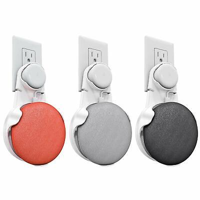 For Google Home Mini Outlet Wall Mount Hanger Holder Stand Space-Saving