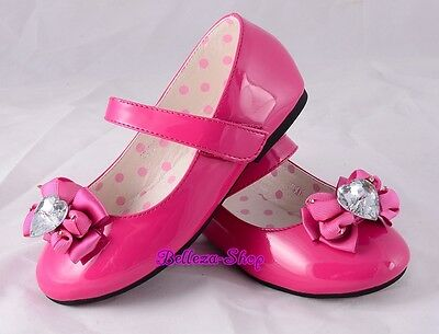 Rosette Mary Janes Shoes For Pageant Party Sz US 5.5-8.5 EU 21-24 GS017A