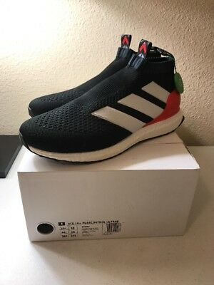 18eb8eef New Adidas Ace 16+ pure control ultra boost BY9087 PREDATOR BLACK Red Size  10.5