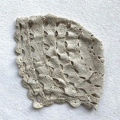Vintage Antique Hand Made Crocheted Baby Cap Bonnet