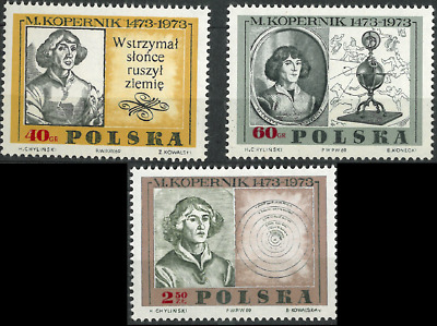 Poland 1969 : 500th anniversary of the birth of Nicolaus Copernicus  // 3 stamps