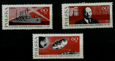 Poland 1969 : 50th anniversary of the October revolution in Russia. // 3 stamps