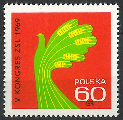 Poland 1969 : 5th congress of the United Peasant Party // 1 stamp