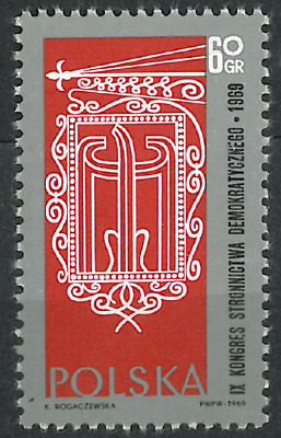 Poland 1969 : 9th Congress of the Polish Democratic Party // 1 stamp