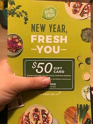 Hello Fresh $50 Gift Card!! Last One New Limited Supply Buy Now
